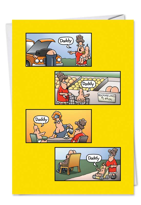 Daddy: Funny Father's Day Paper Card