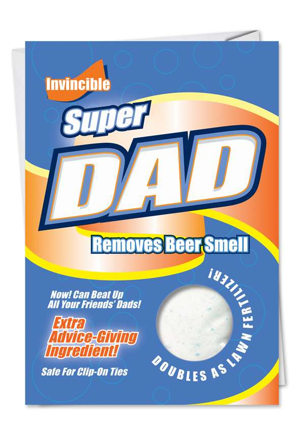 Super Dad: Hysterical Father's Day Paper Greeting Card