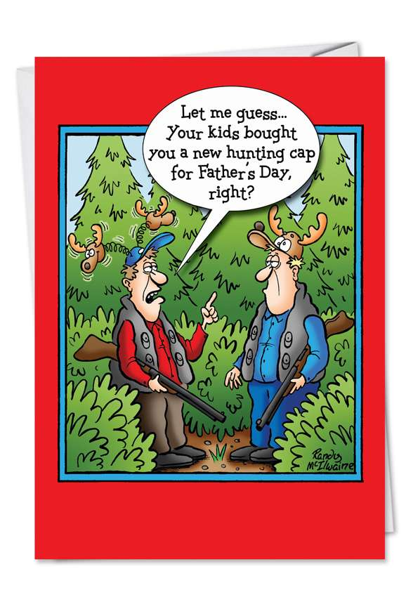 Hunting Cap: Funny Father's Day Paper Greeting Card