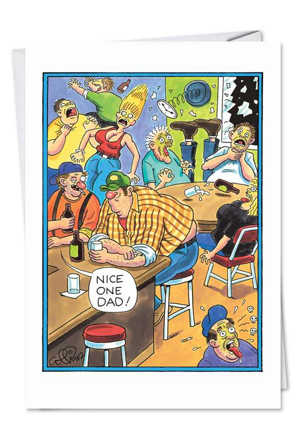 Nice One: Hilarious Father's Day Printed Greeting Card
