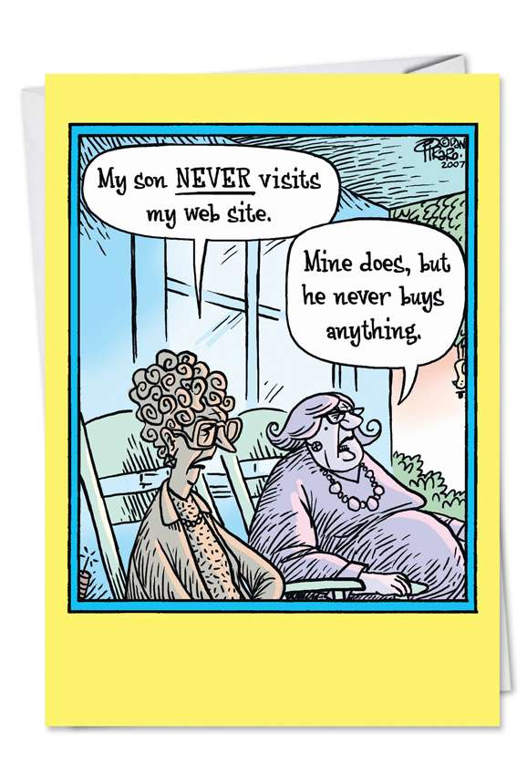 Never Visit Website: Hysterical Mother's Day Greeting Card