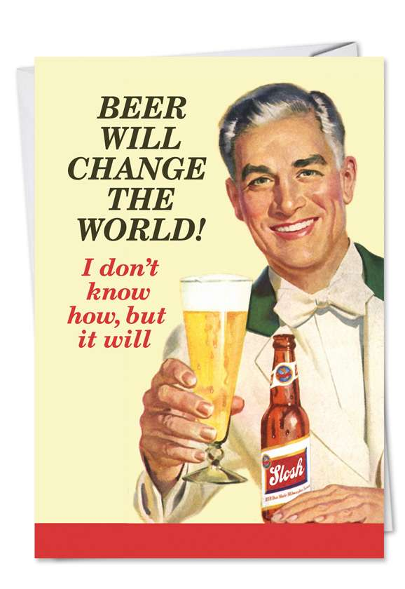 Beer Change: Hysterical Father's Day Paper Card