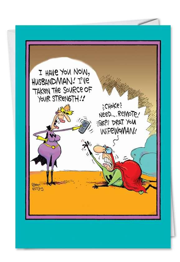 Husbandman: Hilarious Father's Day Greeting Card