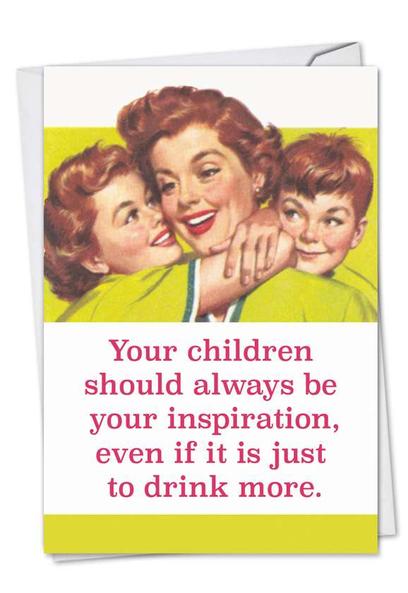 Drink More: Funny Mother's Day Paper Card
