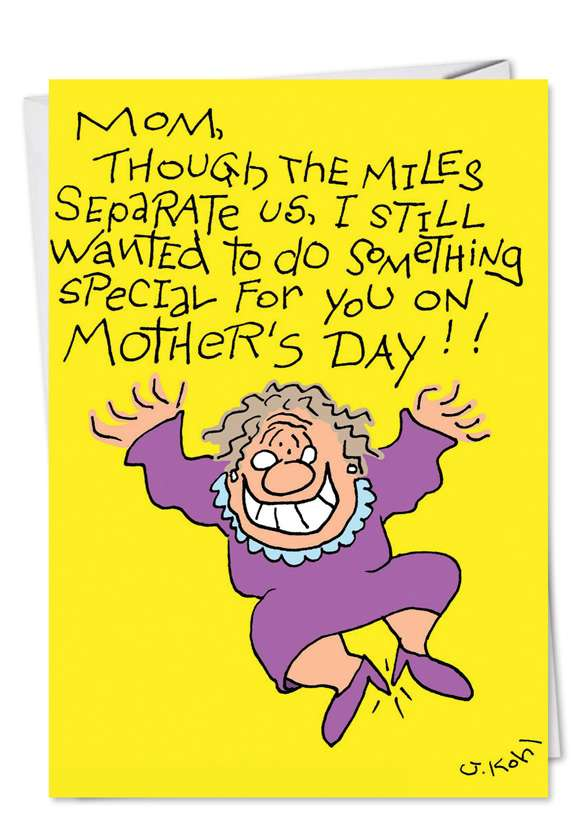 Humorous Mother's Day Greeting Card by Joseph Kohl from NobleWorksCards.com - Cleaned My Room