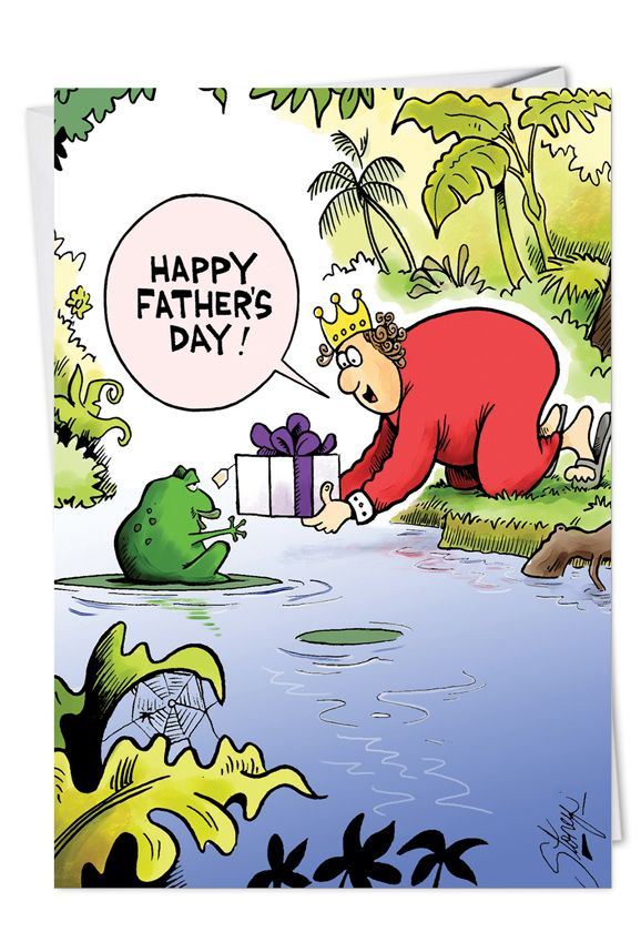 Frog Prince: Hysterical Father's Day Paper Card