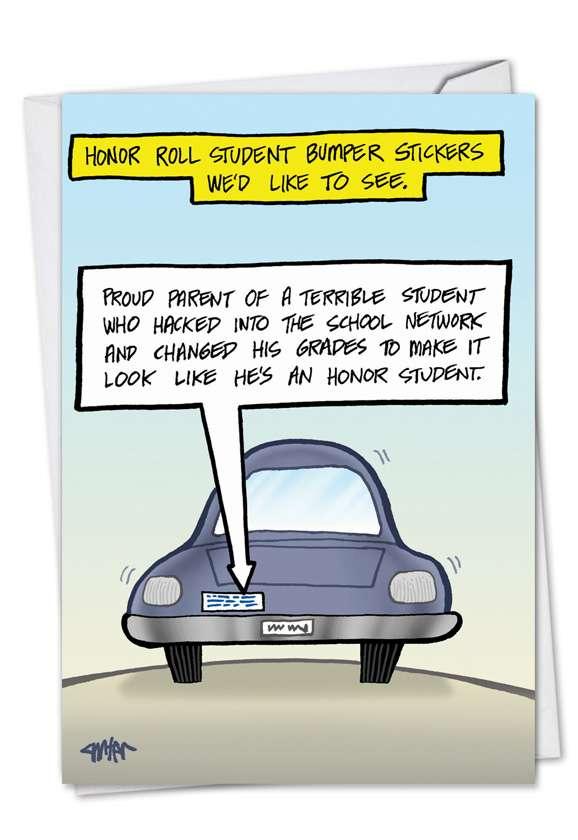Honor Student: Humorous Father's Day Greeting Card