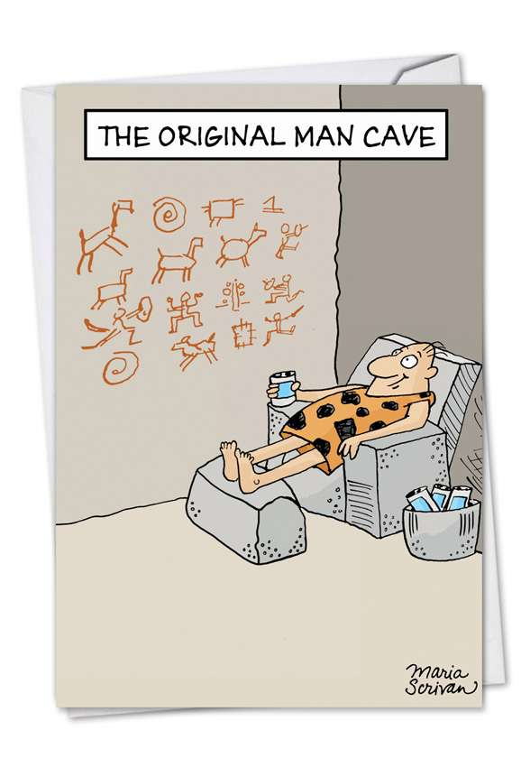 Original Man Cave: Hysterical Father's Day Paper Greeting Card