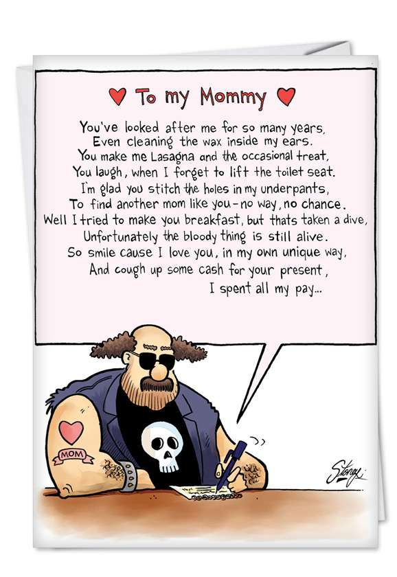 To My Mommy Card