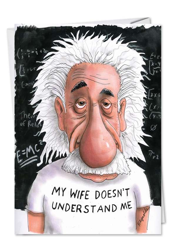 Einstein: Funny Father's Day Printed Card