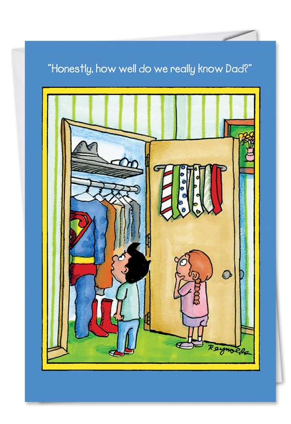 Superdad: Hilarious Father's Day Printed Card