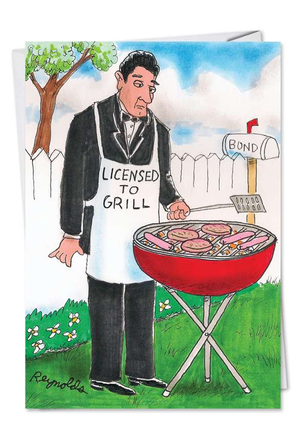 Licensed to Grill: Hysterical Father's Day Printed Greeting Card