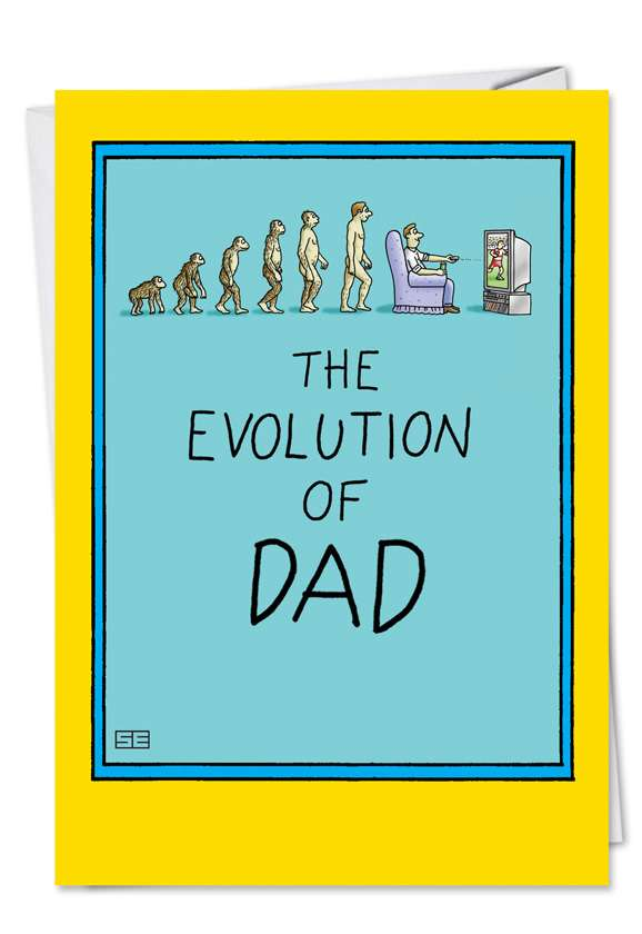 Evolution of Dad: Humorous Father's Day Paper Greeting Card