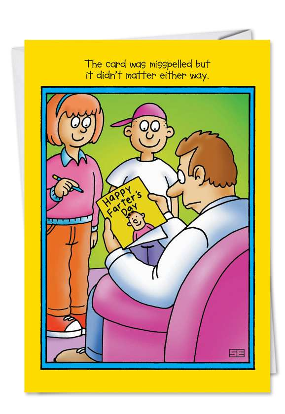Farter's Day: Funny Father's Day Paper Card