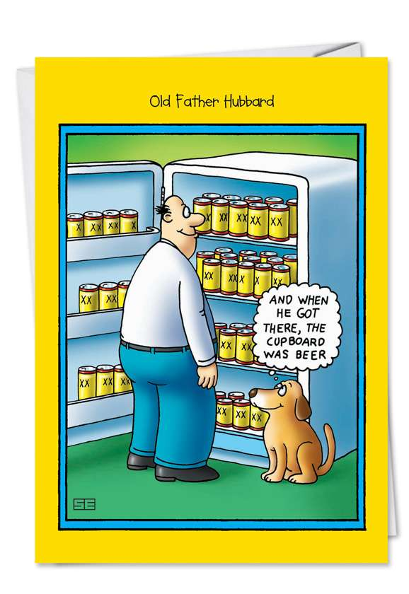 Old Father Hubbard: Humorous Father's Day Greeting Card