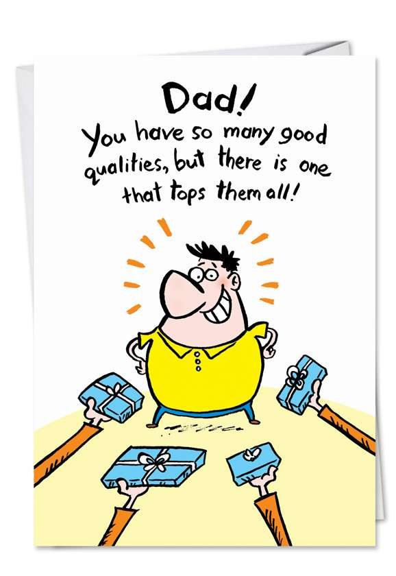 Wanted Socks and Ties: Humorous Father's Day Printed Card