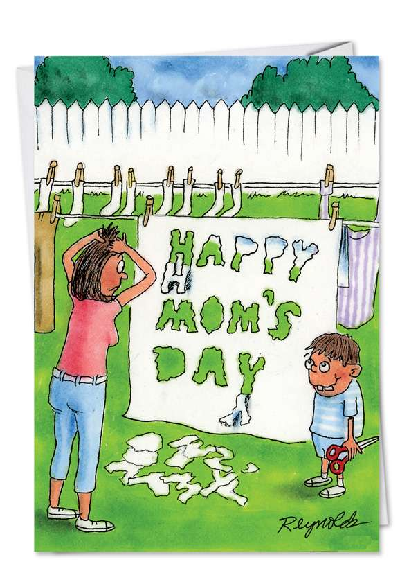 Sheet Cut Out: Hilarious Mother's Day Printed Card