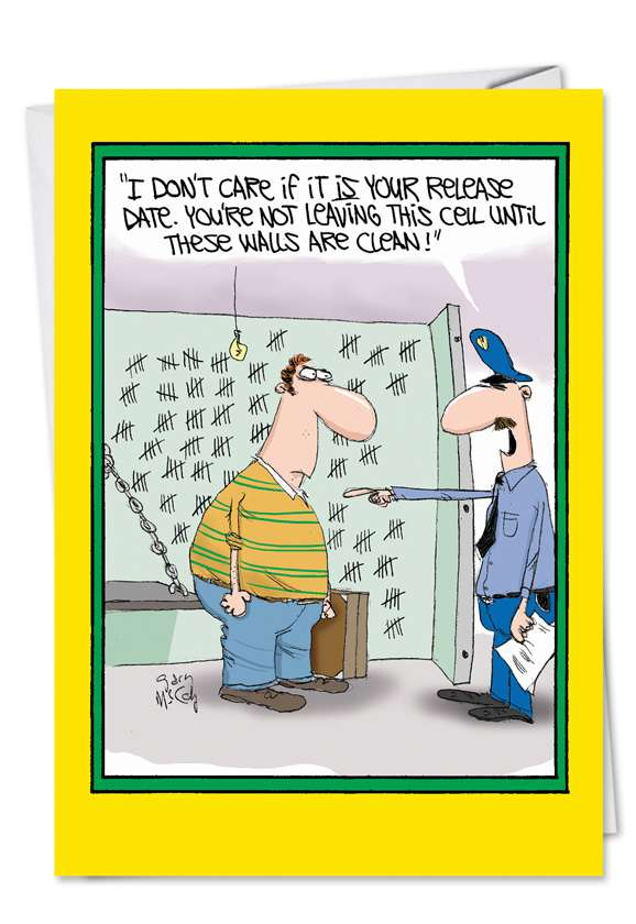 Walls Are Clean: Funny Mother's Day Printed Greeting Card