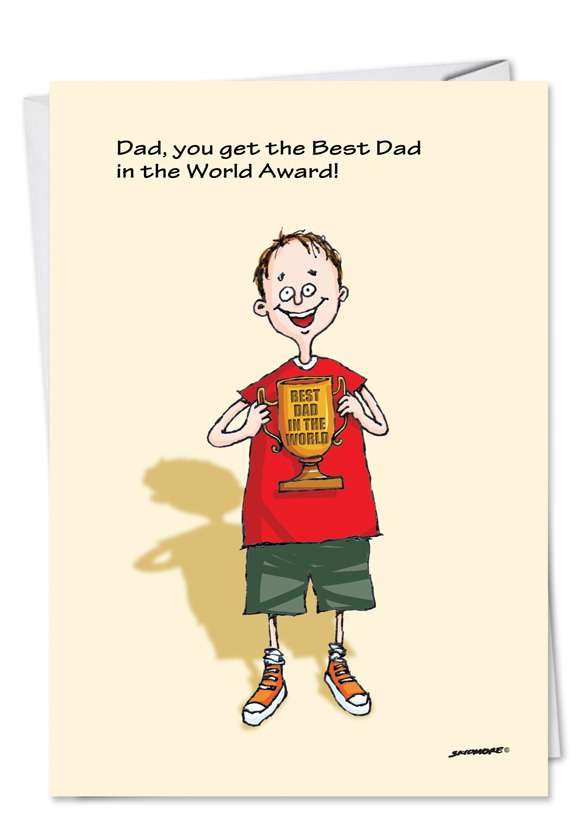 Best Dad: Hilarious Father's Day Paper Greeting Card