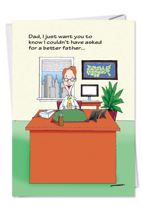 Bill Gates: Humorous Father's Day Printed Greeting Card