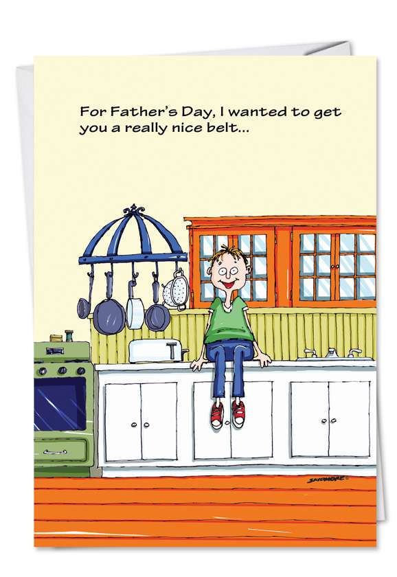 Nice Belt: Humorous Father's Day Paper Greeting Card