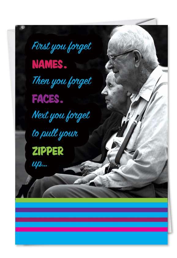 Zipper Up Card