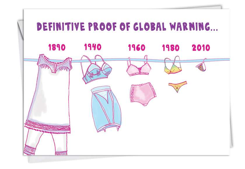 Global Warming: Hysterical Birthday Greeting Card