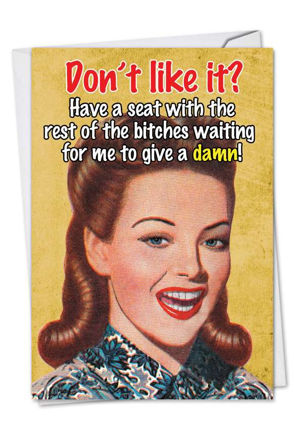 Sit With The Bitches: Funny Blank Printed Card