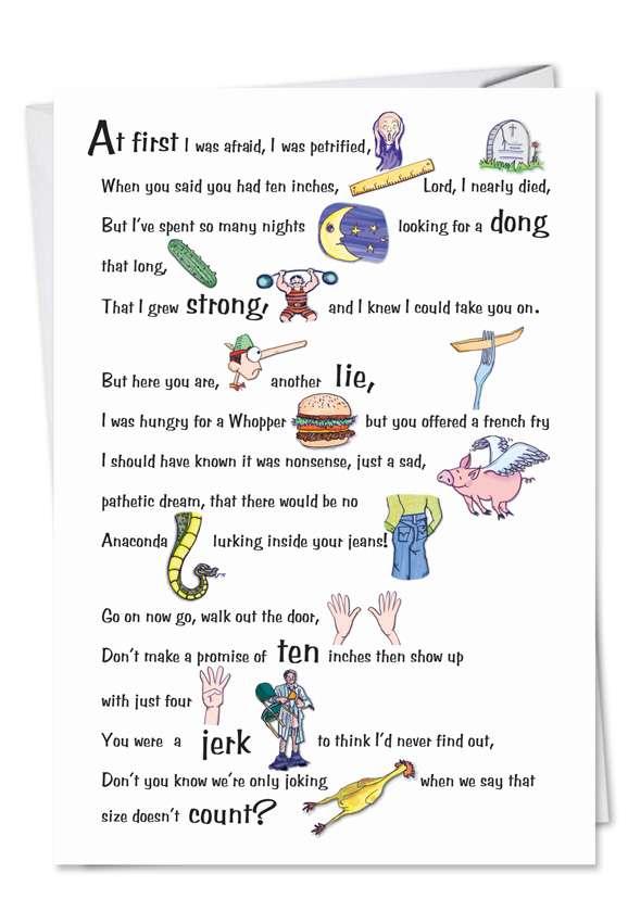 Survive XXX: Hilarious Birthday Paper Card