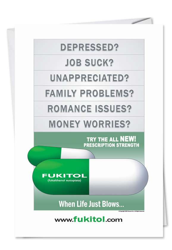 Fukitol: Funny Birthday Paper Greeting Card