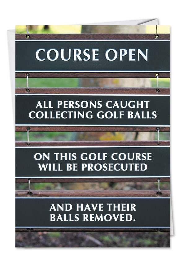 Golf Balls Removed Card