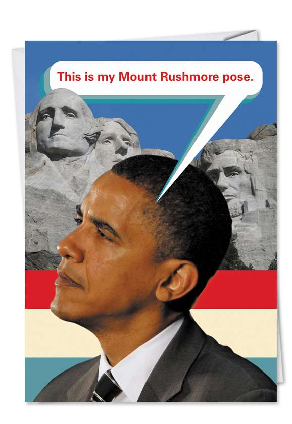 Mt. Rushmore: Hilarious Birthday Printed Greeting Card