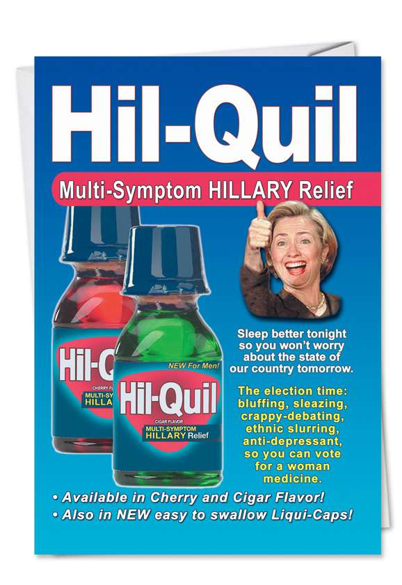 Hillary Hilquil: Hysterical Birthday Paper Card
