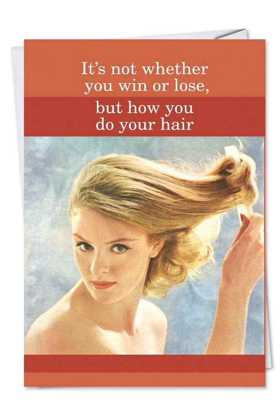 Do Your Hair Blank Card