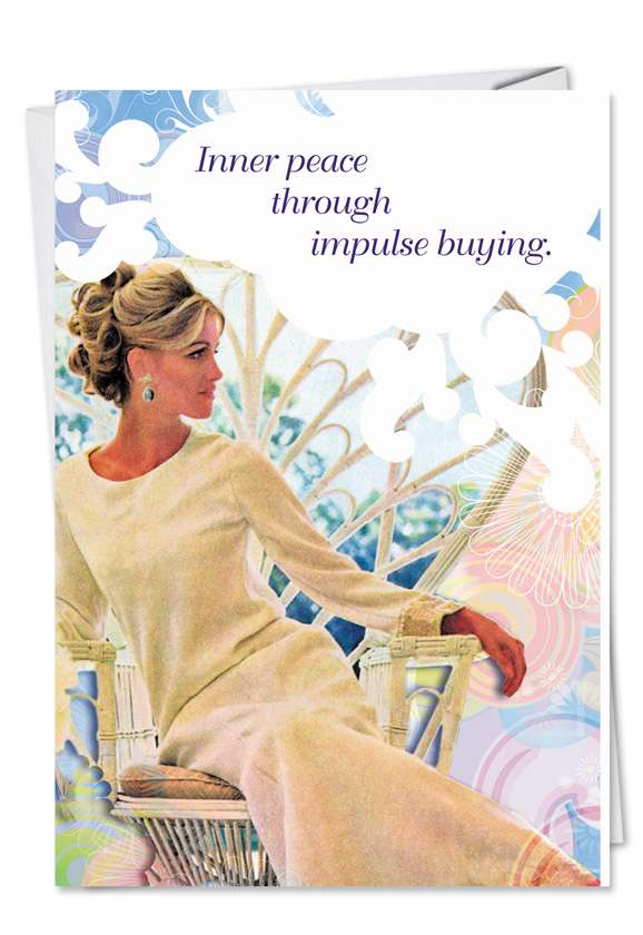 Impulse Buying: Funny Birthday Printed Greeting Card