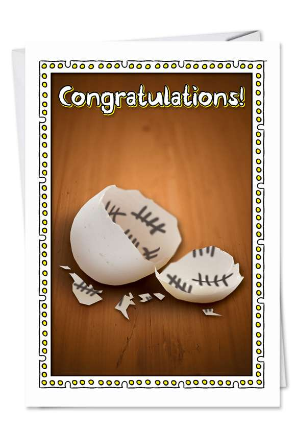Counting the Days: Hilarious Congratulations Paper Greeting Card
