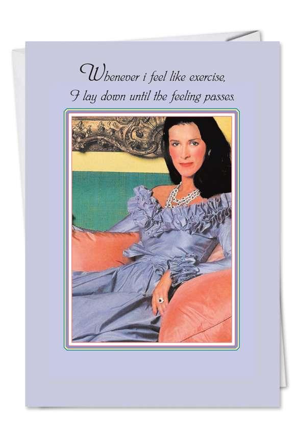 Feeling Passes: Hilarious Birthday Greeting Card