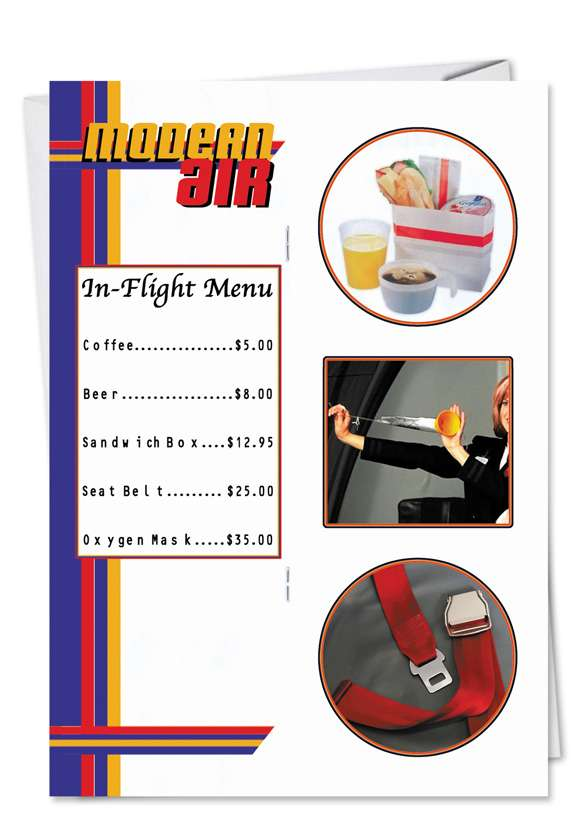 Airplane Sign Card