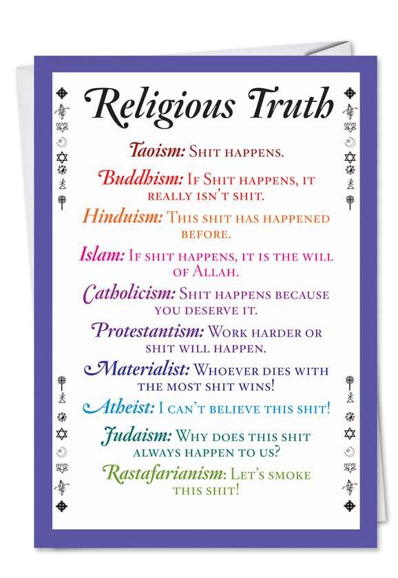 Religious Truth: Humorous Birthday Printed Card