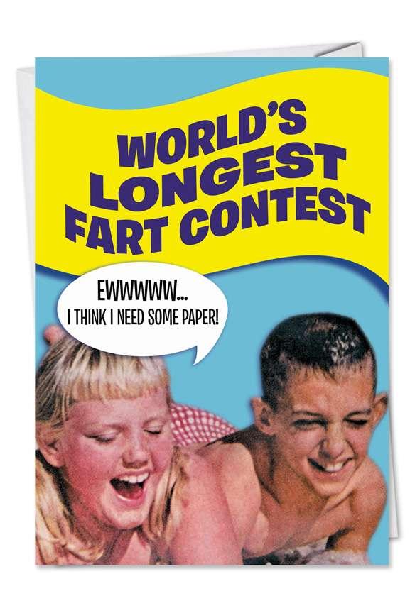 Longest Fart: Hysterical Birthday Printed Card
