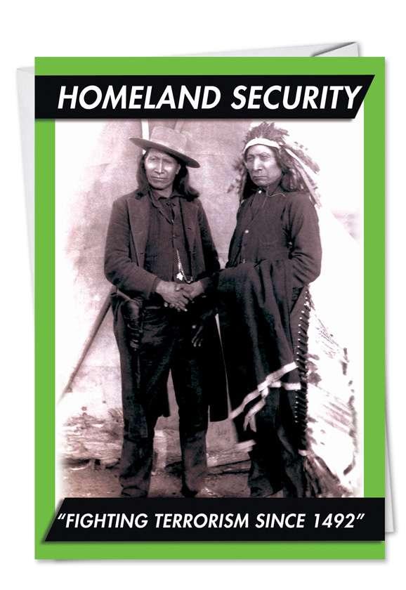 Homeland Security: Humorous Birthday Paper Card