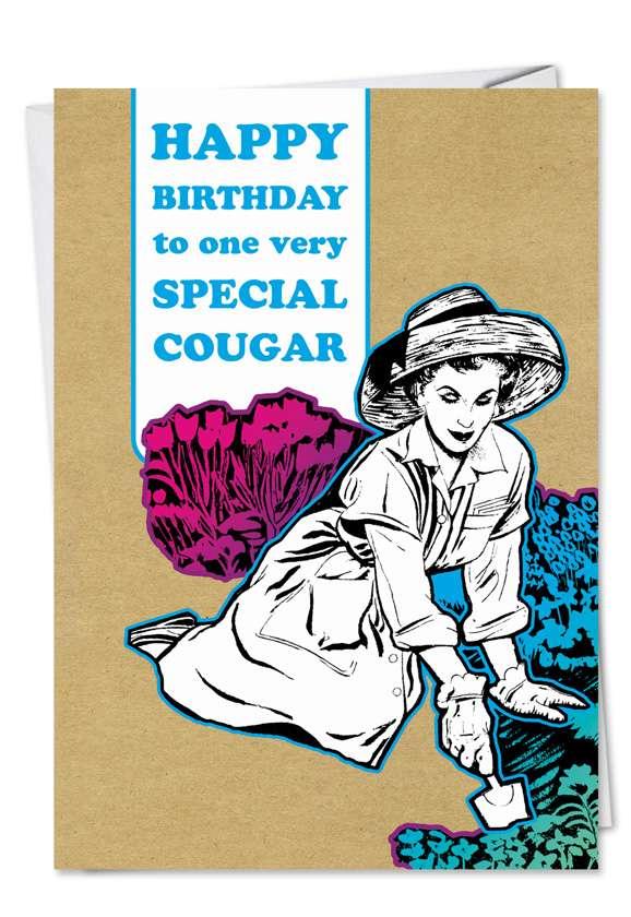 Cougar: Humorous Birthday Greeting Card
