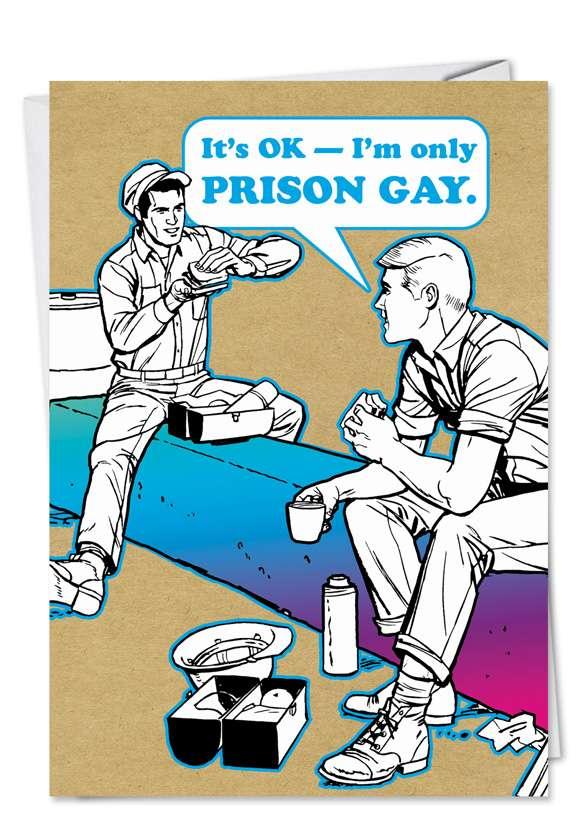 PRISON GAY Card