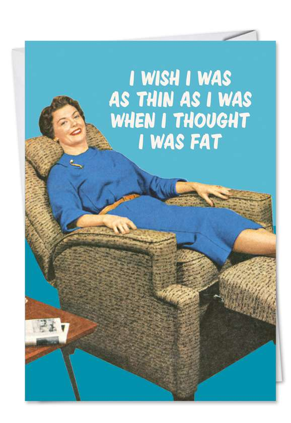 I Wish: Funny Birthday Paper Greeting Card