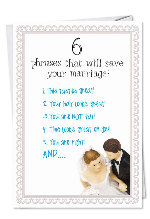 Save Your Marriage: Hysterical Anniversary Greeting Card