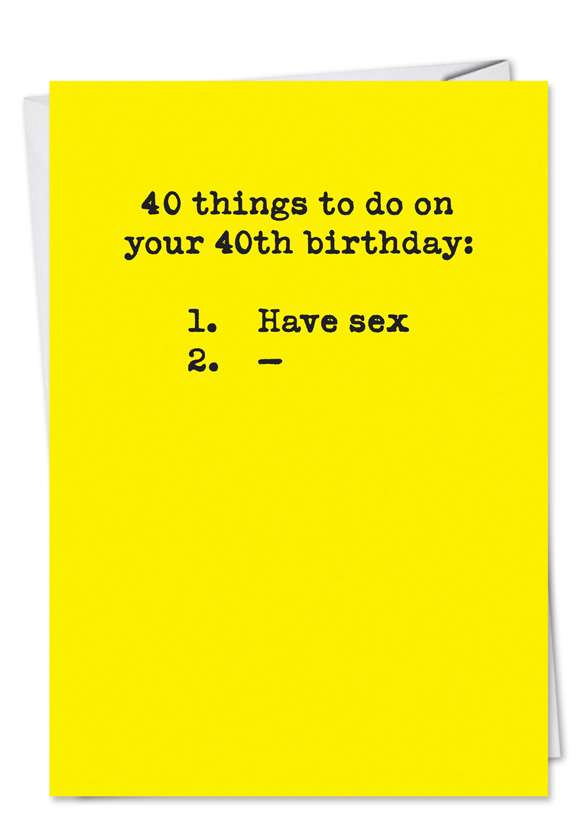 40 Things to Do Card