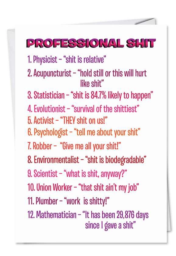 Professional Shit Card