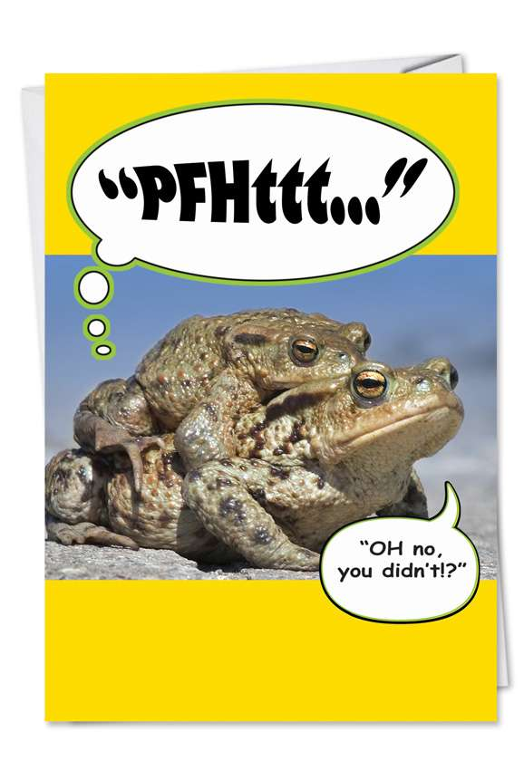 Frog Fart: Humorous Birthday Printed Card