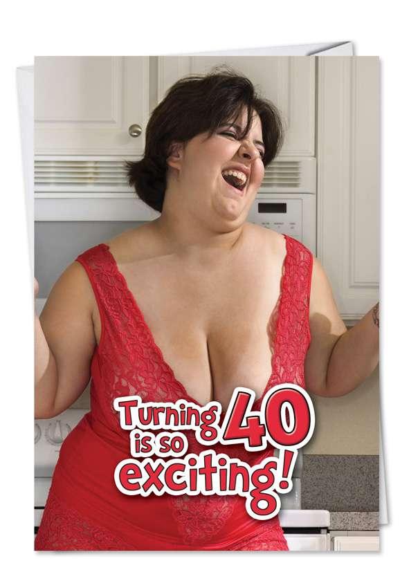 Flipping Fab 40: Hilarious Birthday Printed Greeting Card