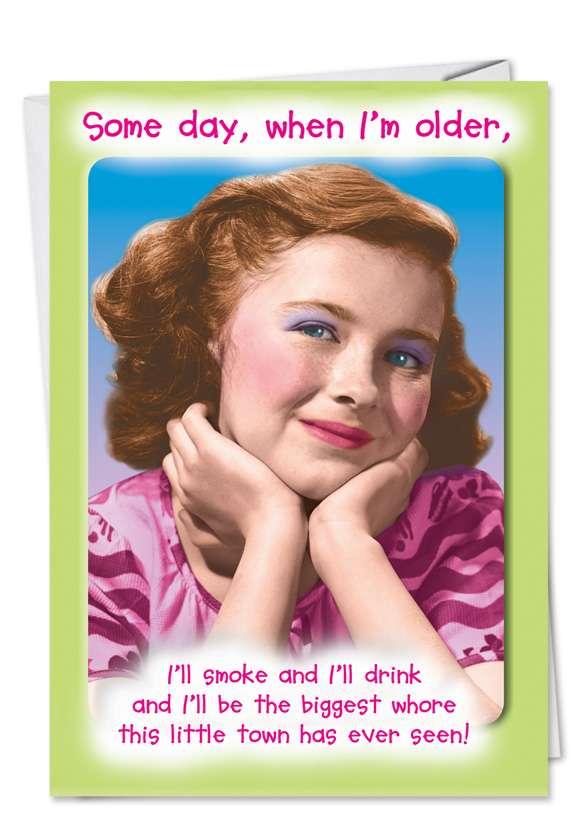 Biggest Whore: Hilarious Birthday Paper Greeting Card